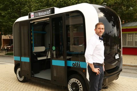 Olli, self-driving vehicle, photo: Rich Riggins/Feature Photo Service for IBM