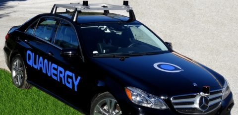 Quanergy sensors on a Mercedes car